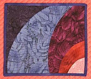 Priority Quilt No. 2650 - Mindful Moodling, XI (Vortex, Jr.) by Julie S.