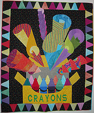 Crayon Quilt by Judy