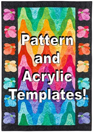 Rainbow Ripples pattern and template set
